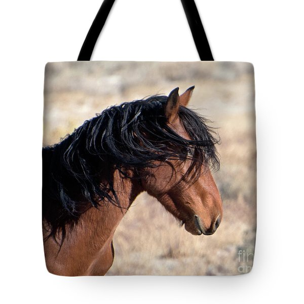 Tote Bag featuring the photograph Mustang by Lula Adams