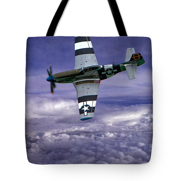 Mustang On Patrol Tote Bag