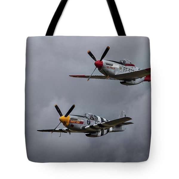 Tote Bag featuring the photograph Mustangs by Elvira Butler