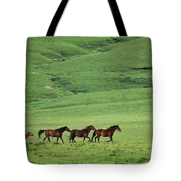 Tote Bag featuring the photograph Mustangs Of The Flint Hills by E B Schmidt