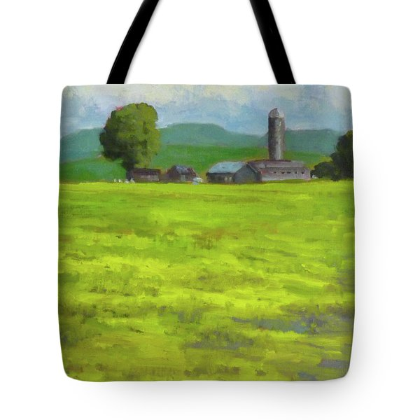 Mustard Fields Indiana Tote Bag by Nora Sallows