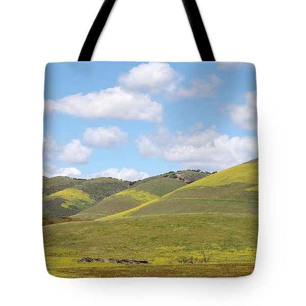 Mustard On Nipomo Hills Tote Bag by Art Block Collections