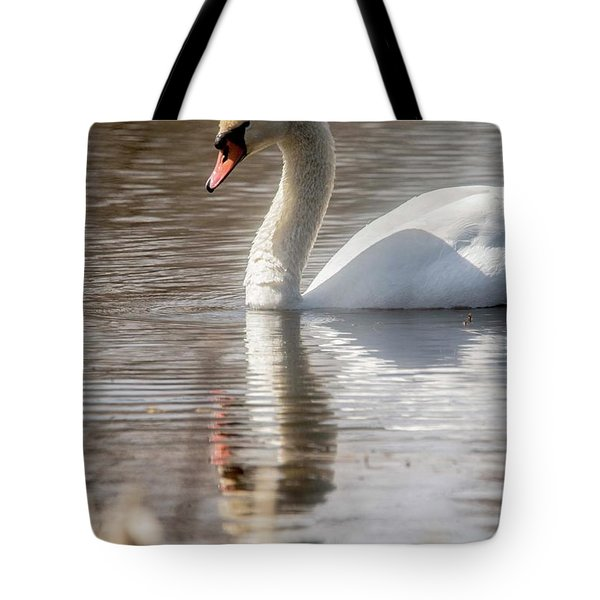 Tote Bag featuring the photograph Mute Swan - 2 by David Bearden