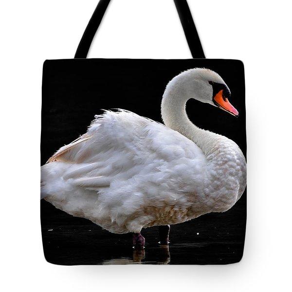Mute Swan 3 Tote Bag by Brian Stevens