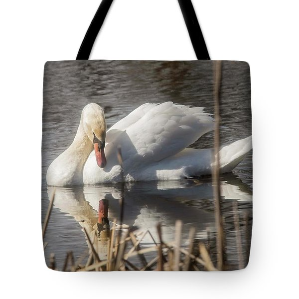 Tote Bag featuring the photograph Mute Swan - 3 by David Bearden