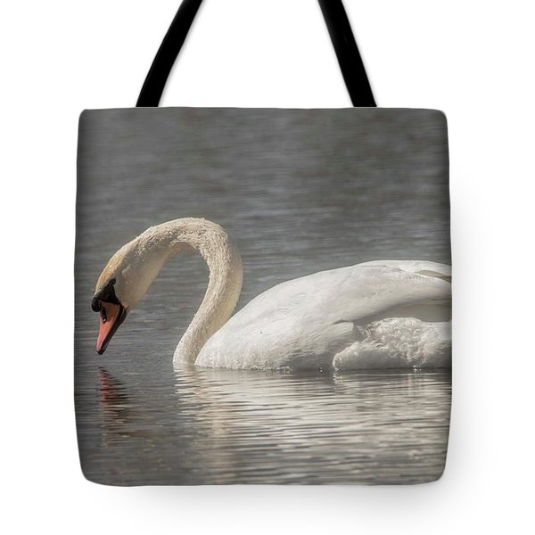 Tote Bag featuring the photograph Mute Swan by David Bearden