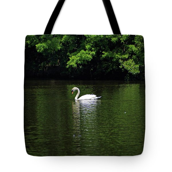Tote Bag featuring the photograph Mute Swan by Sandy Keeton