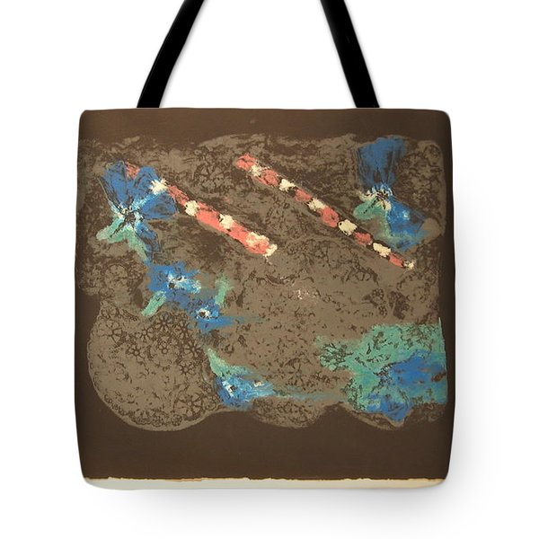 Tote Bag featuring the mixed media Muted by Erika Chamberlin