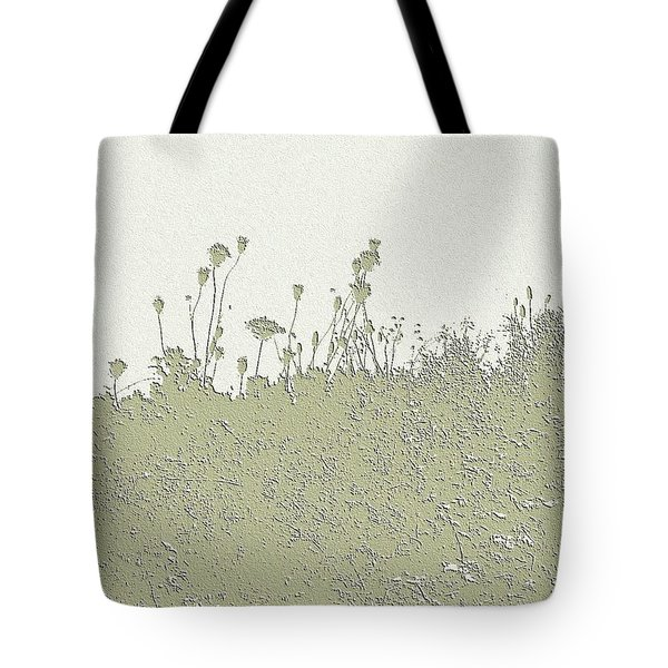 Tote Bag featuring the photograph Muted Green Dandelions by Ellen Barron O'Reilly