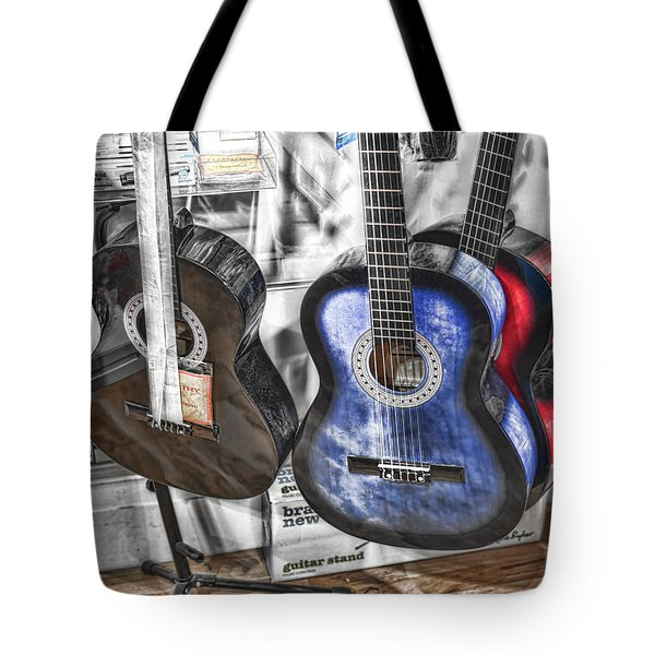 Muted Guitars Tote Bag