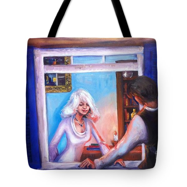 Intimate Conversation Tote Bag