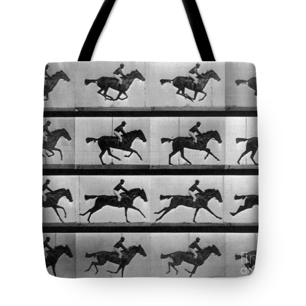 Muybridge Locomotion Racehorse Tote Bag by Photo Researchers
