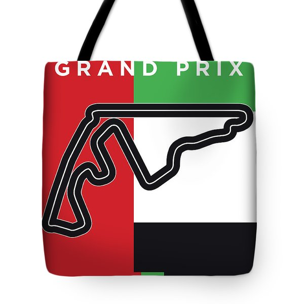 My Abu Dhabi Grand Prix Minimal Poster Tote Bag