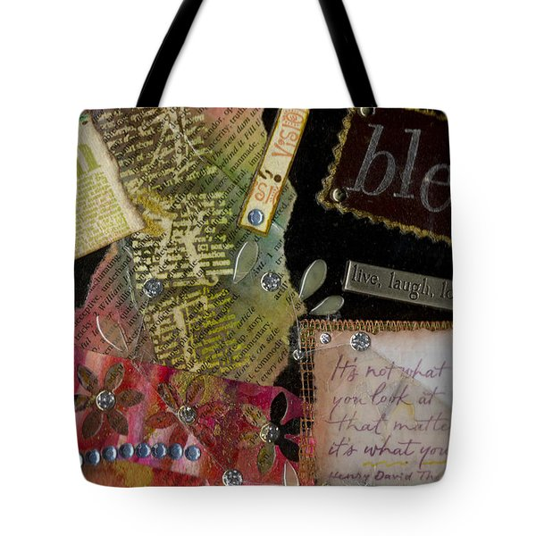 My Art Journal - Blessed Tote Bag by Angela L Walker