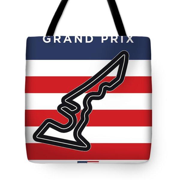 My Austin Usa Grand Prix Minimal Poster Tote Bag