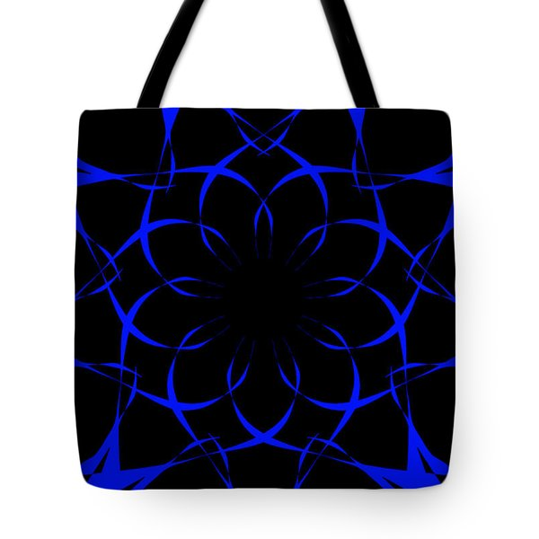 Tote Bag featuring the drawing My Blue Flower by Sheila Mcdonald