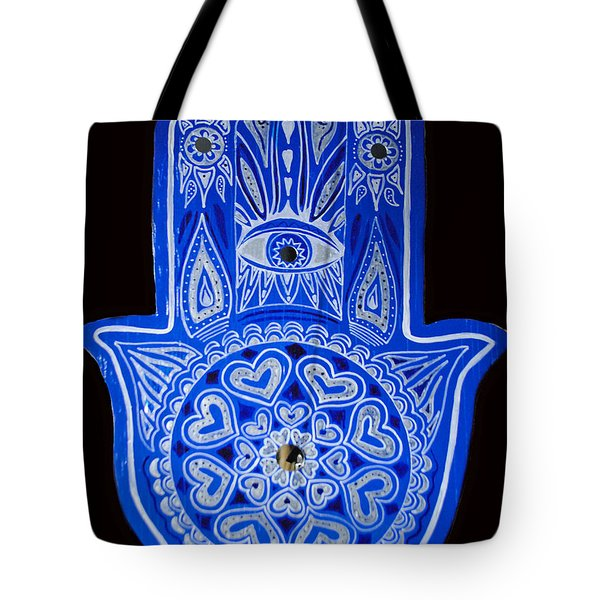 My Blue Hamsa Tote Bag