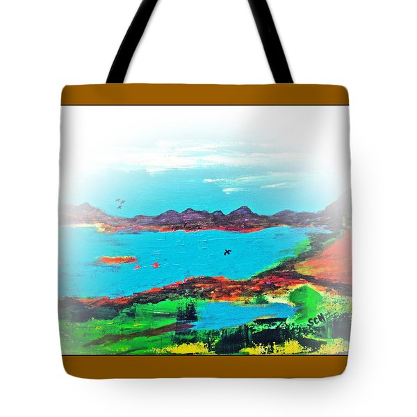 My Blue Heaven Number Three Tote Bag by Scott Haley