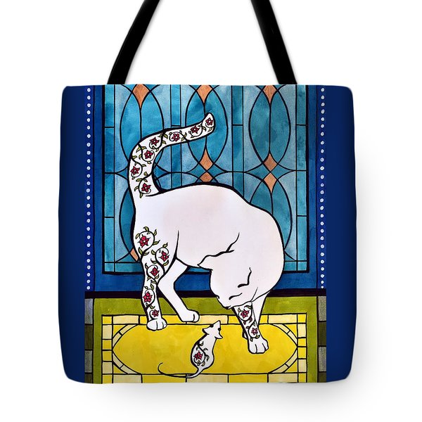 Tote Bag featuring the painting My Brother From Another Mother by Dora Hathazi Mendes