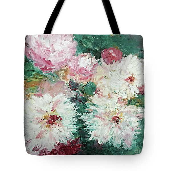 Tote Bag featuring the painting My Chrysanthemums by Barbara Anna Knauf