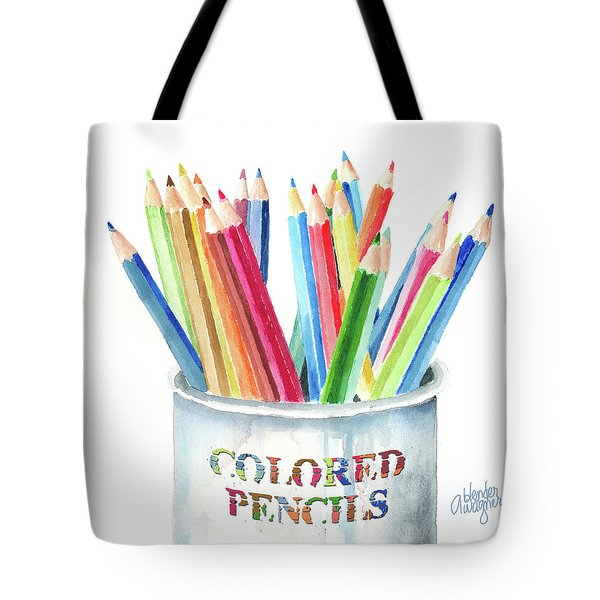 My Colored Pencils Tote Bag by Arline Wagner