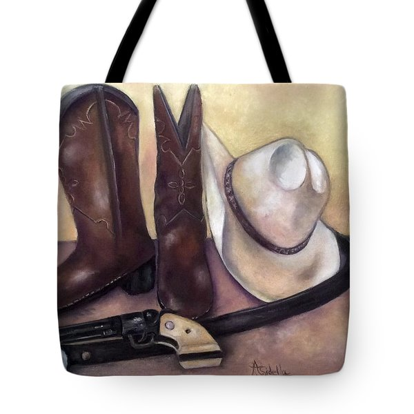 My Cowboy's Home Tote Bag