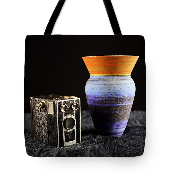 Tote Bag featuring the photograph My Dad's Camera by Jeremy Lavender Photography
