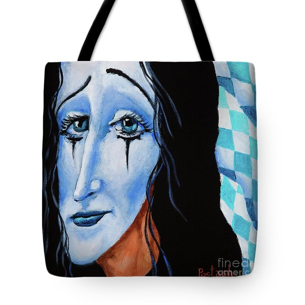 My Dearest Friend Pierrot Tote Bag by Igor Postash