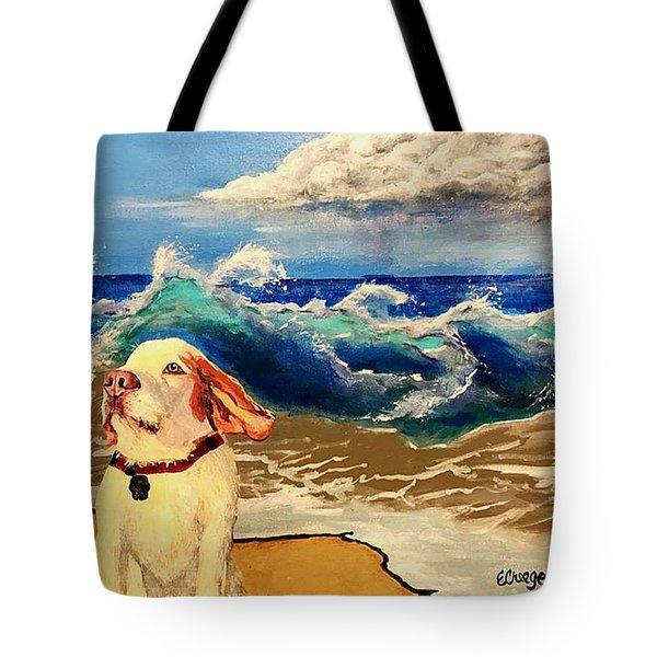 My Dog And The Sea #1 - Beagle Tote Bag