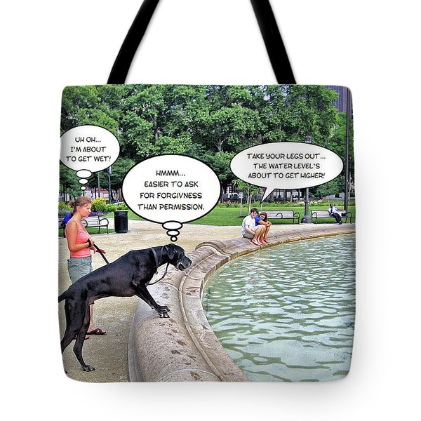 My Dog Tiny Tote Bag by Brian Wallace