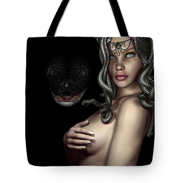 My Eyes Are Up Here Tote Bag by Alexander Butler