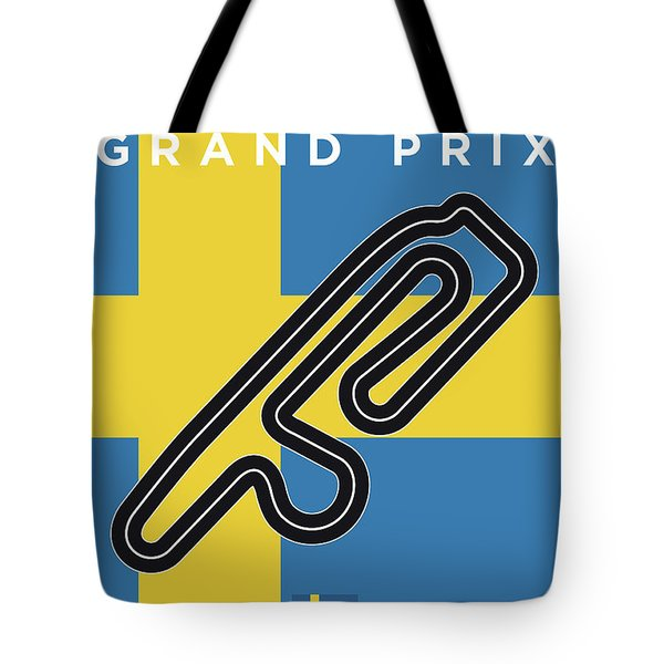 My F1 Anderstorp Race Track Minimal Poster Tote Bag