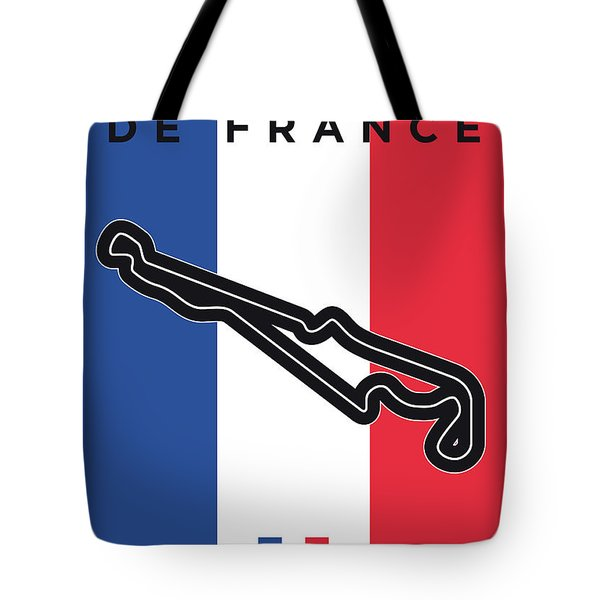 My F1 France Race Track Minimal Poster Tote Bag