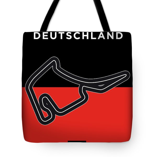 My F1 Germany Race Track Minimal Poster Tote Bag