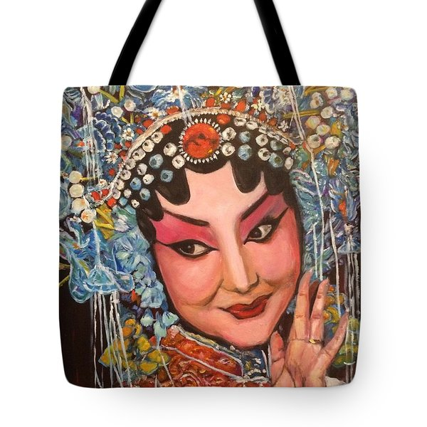Tote Bag featuring the painting My Fair Lady by Belinda Low