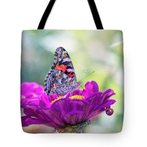 My Fair Painted Lady Tote Bag