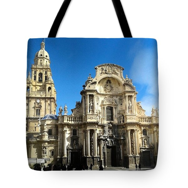 Spanish Cathedral In Murcia Tote Bag