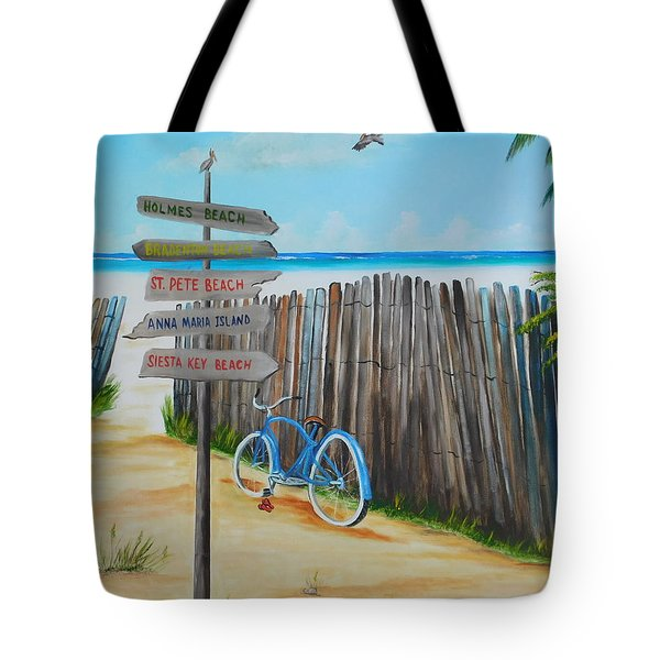 My Favorite Beaches Tote Bag