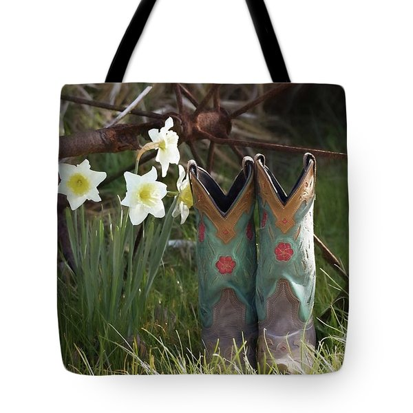 Tote Bag featuring the photograph My Favorite Boots by Benanne Stiens