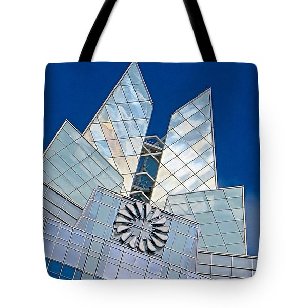 My Favorite #building In #myhometown Tote Bag by Austin Tuxedo Cat