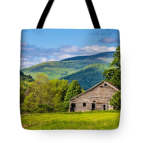 Tote Bag featuring the photograph My Favorite Cabin In The Rolling Mountains by Paula Porterfield-Izzo