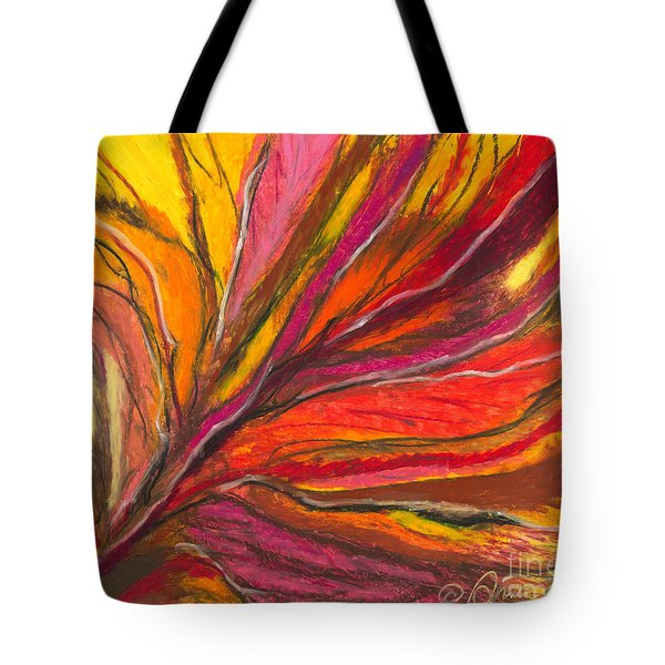 Tote Bag featuring the painting My Fever Burns by Ania M Milo
