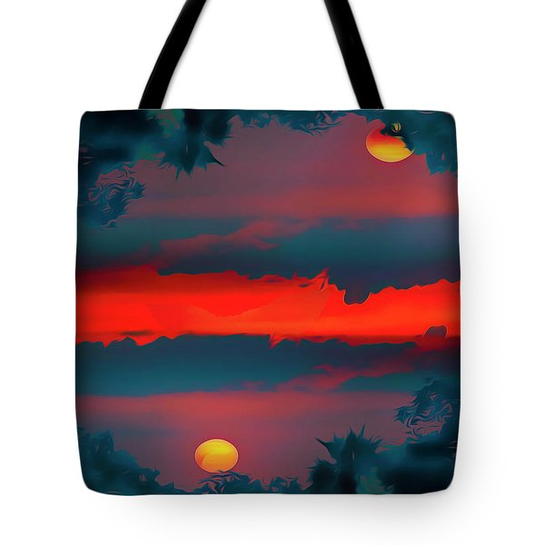 Tote Bag featuring the photograph My First Sunset- by JD Mims