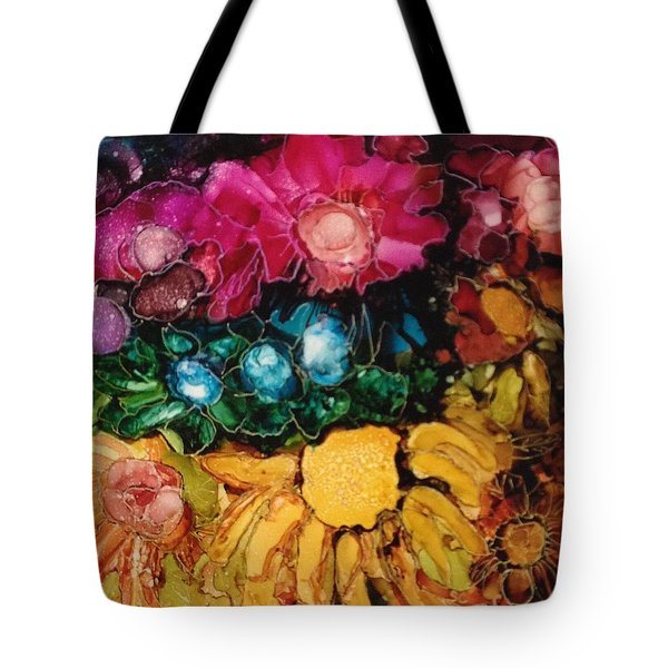 My Flower Garden Tote Bag by Suzanne Canner