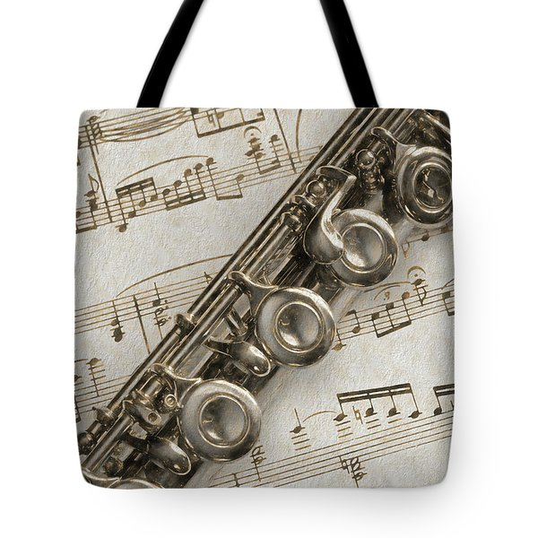 My Flute Photo Sketch Tote Bag