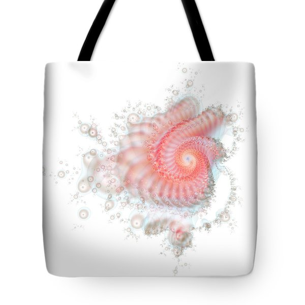Tote Bag featuring the digital art My Fractal Heart by Fran Riley