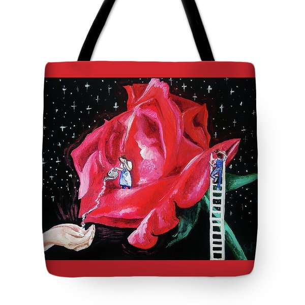 Tote Bag featuring the painting My Fragrant Offering by Jennifer Page