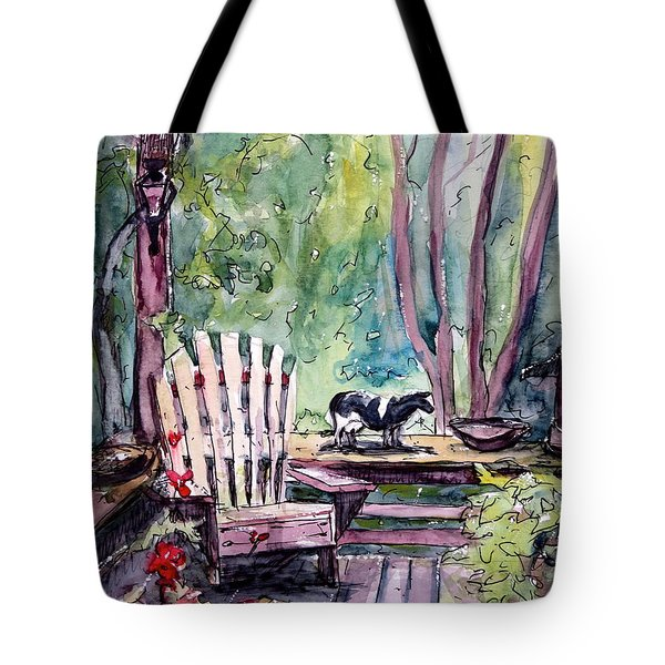 My Front Porch Tote Bag by Gretchen Allen