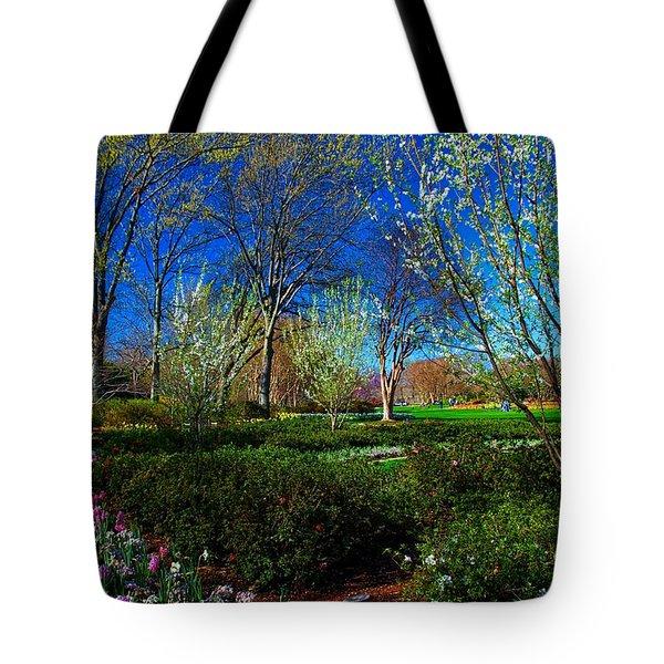 My Garden In Spring Tote Bag