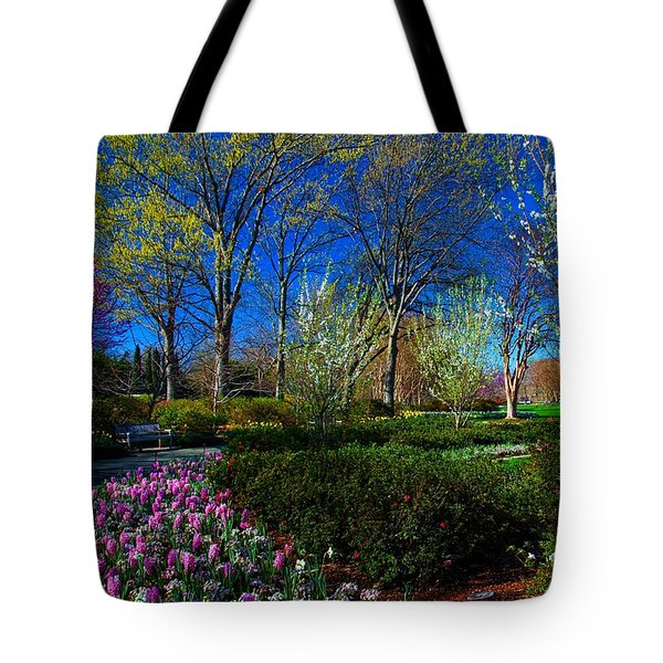 My Garden In Spring Tote Bag